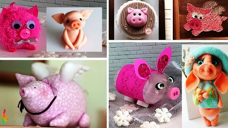 Новогодние поделки Символ 2019 Свинка своими руками Как сделать подарки на Новый год