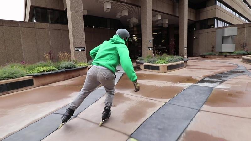 1980s Brutalist Architecture vs 2010s Modern Design on Inline Skates