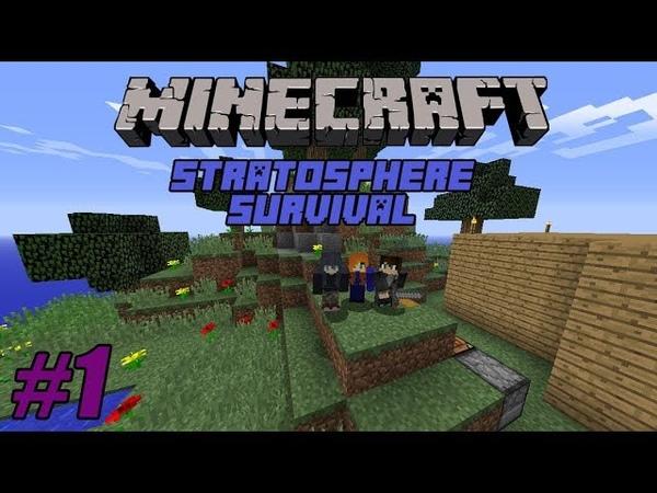 Minecraft. Прохождение карты Stratosphere Survival 1