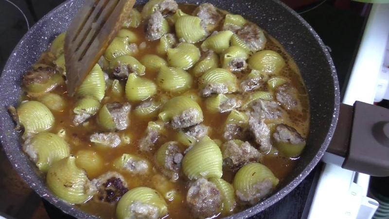 Фаршированные макароны сапожок с фаршем, пошаговый рецепт