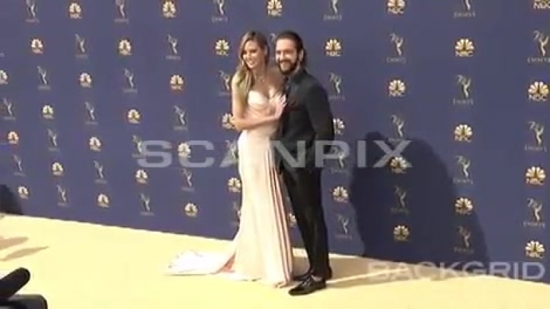 Tom Kaulitz Heidi Klum at Emmy Awards