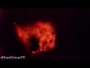 Эффектное извержение вулкана Анак-Кракатау Индонезия, август 2018.