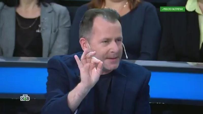 Польский журналист Пшемыслав Мажец пришел на эфир программы хорошо поддатый за что и был послан ведущим Норкиным