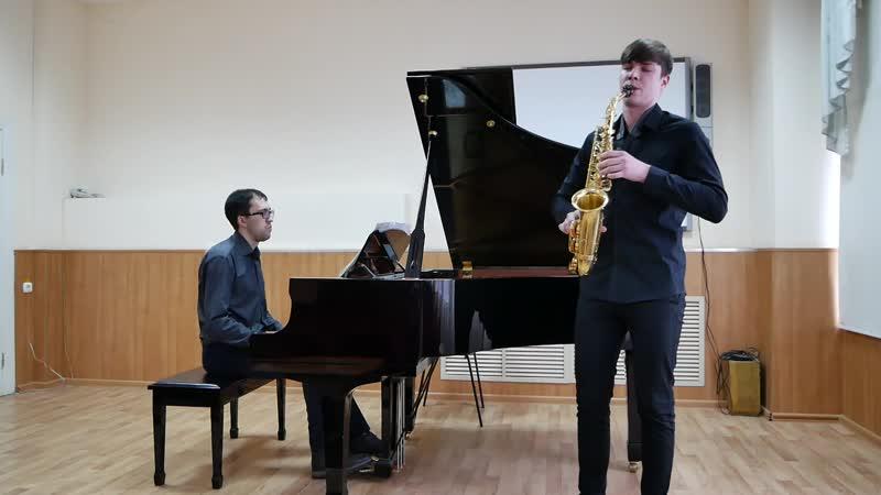Стефан Гавриленко - Иоганн Себастьян Бах - Соната № 6 для флейты и фортепиано (I, II часть)