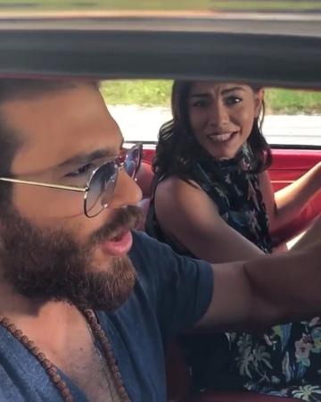 """Bay Magazin on Instagram """"Can Yaman ve Demet Özdemir Erkenci Kuş dizisinin setinden kamera arkası görüntüleri paylaştı... erkencikuş dizisini sev..."""
