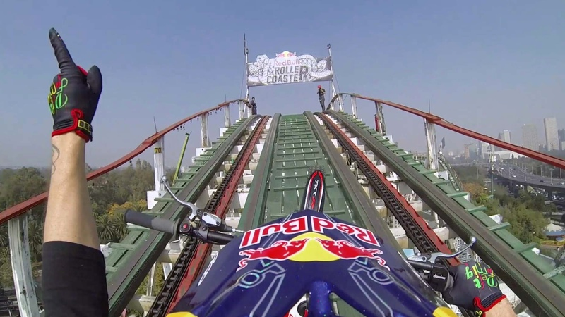 Trials Motorcycle on a Roller Coaster - Red Bull Roller Coaster
