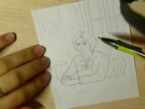 SPEEDPAINT| Перерисовка в своём стиле картины Девочка с персиками