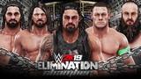 WWE 2K19 Elimination Chamber - Roman Reigns vs Cena vs Rollins vs Styles vs Strowman vs Triple H!