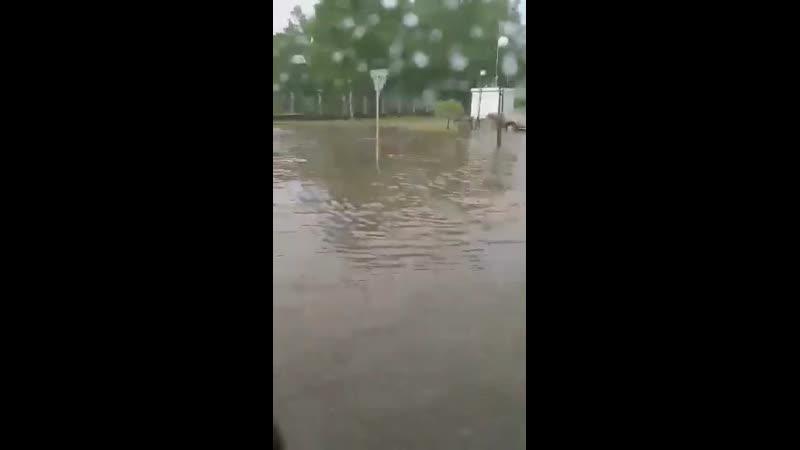 Потоп в Новополоцке Беларусь