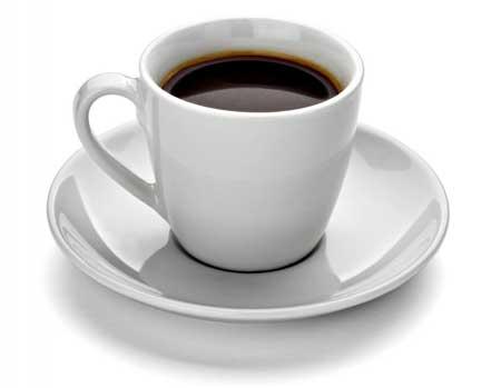 Кофейная чашка из фарфоровой посуды.