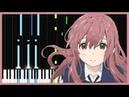 Lit Koe no Katachi Piano Tutorial Synthesia Torby Brand