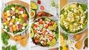 3 Fresh Summer Salads   No Cook Recipes Healthy Easy
