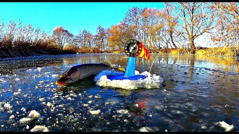 Первый лед 2018-2019. Рыбалка на жерлицы. Ловля щуки по первому льду.