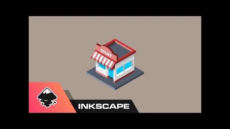 Isometric Shop Icon - Inkscape