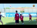Messi Piqué Sergio and Jordi Alba back at it for a second day at the Ciutat Esportiva ForçaBarç