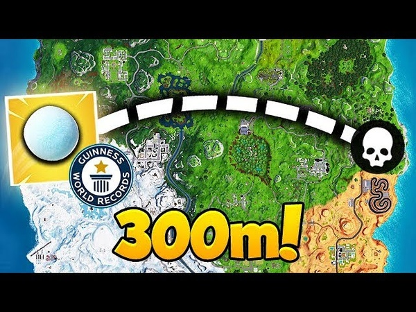 *WORLD RECORD* LONGEST EVER SNOWBALL THROW! - Fortnite Funny Fails and WTF Moments! 438