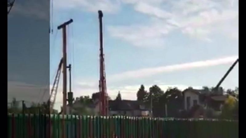 Нанотехнологии в болоте при строительстве новой школы в Лохино/Трехгорка