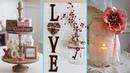 ❤ DIY Shabby chic style Valentine Mason Jar decor Ideas❤ | Valentine decor | Flamingo Mango|