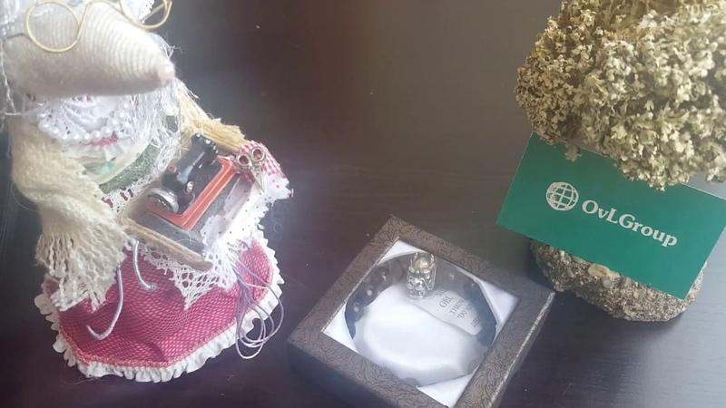 OvLGroup /Крутой браслет из натурального камня Голова Дракона