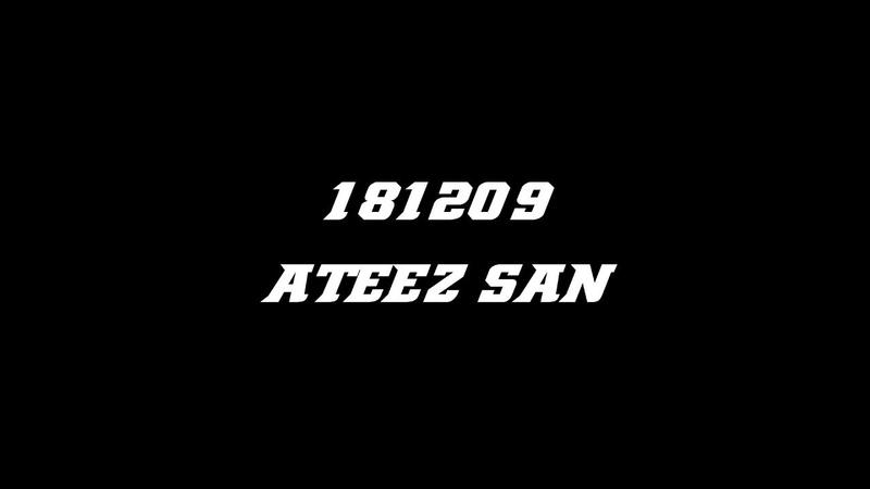 [FANCAM] 181125 ATEEZ - Treasure (SAN FOCUS)