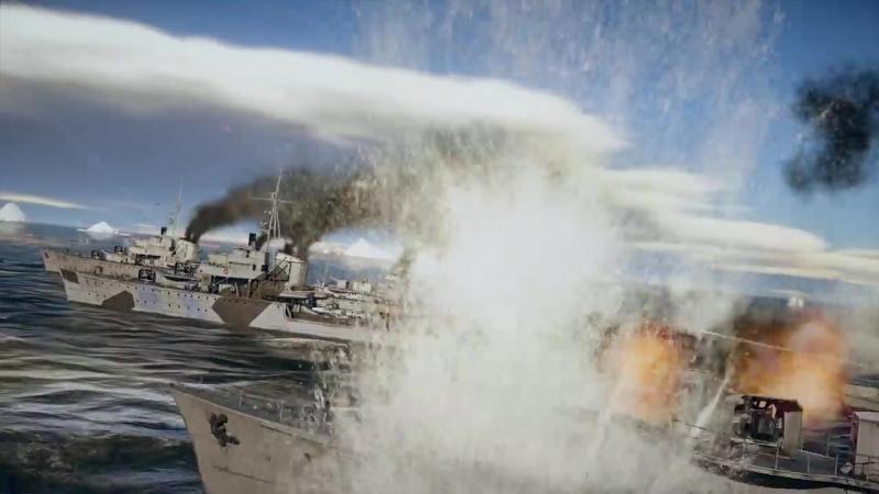 War Thunder- трейлер ЗБТ флота