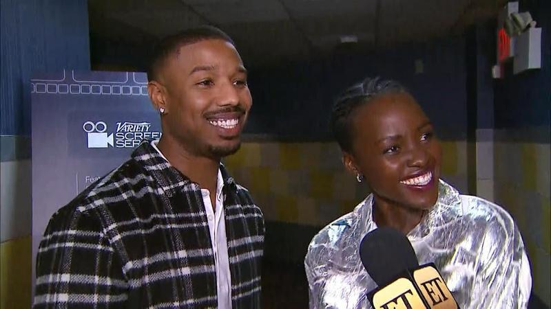 Michael B. Jordan and Lupita Nyongo Tell Hilarious Story of Falling During Globes Elevator Shoot…