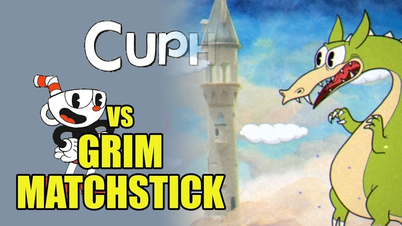 Cuphead - Grim Matchstick - Грим Матчстик [Boss Battle, A Grade, No Damage]