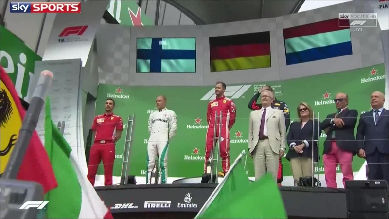 Formula1 2018. Round 7. Canada. Race podium