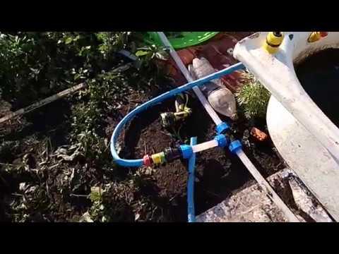 Простой водопровод для полива по всему огороду