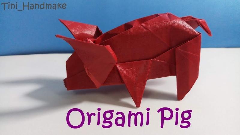 DIY Origami PigHow to make an Origami paper Pig Hướng dẫn xếp chú heo bằng giấy