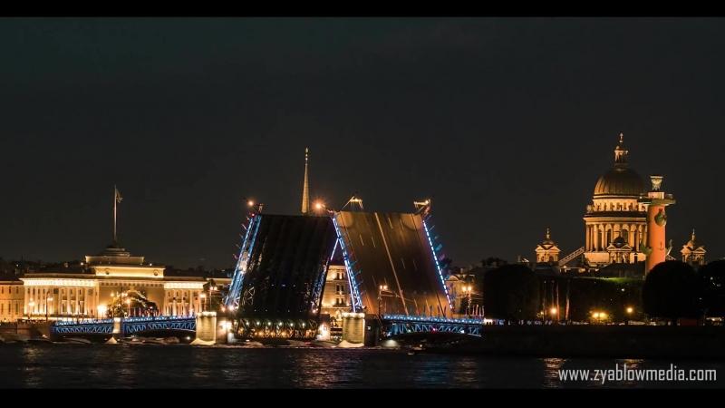 The timelapse - white night in Sait - Petersburg