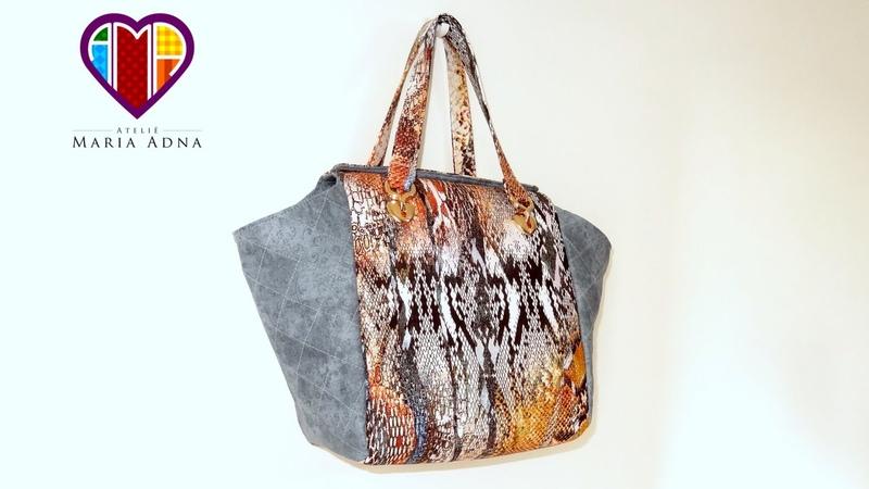 Bolsa sacola de tecido Érika - Maria Adna Ateliê - Cursos e aulas de bolsas de tecido e couro