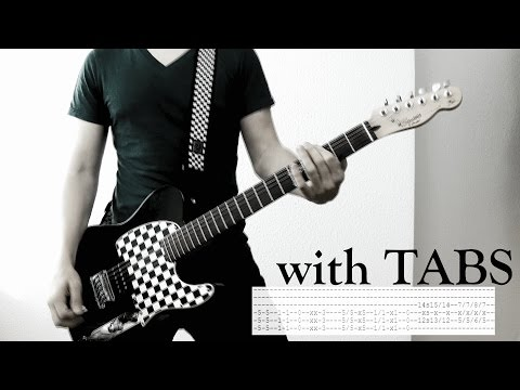 Skillet - Comatose Guitar Cover wTabs on screen