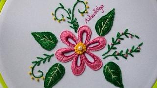 Hand Embroidery: Buttonhole stitch flowers | Bordados a mano: Flores en punto ojal | Artesd'Olga