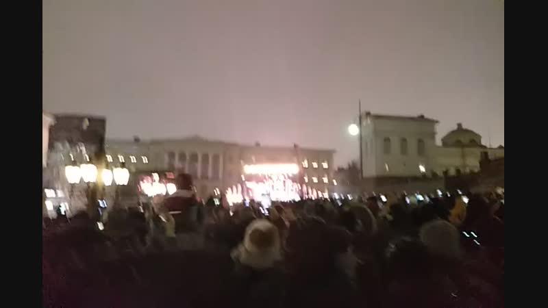 1 января 2019 Салют на Сенатской площади Хельсинки