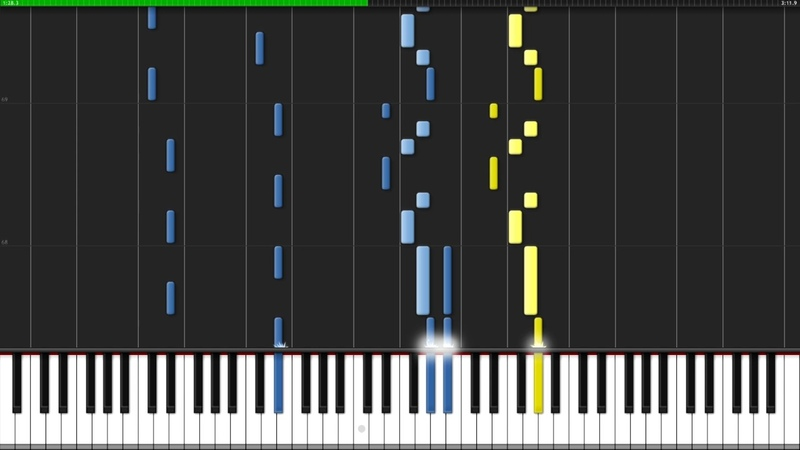 Gorch-Fock-Melodei - Entre-Deux-Mers [Piano Flute Tutorial] (Synthesia)