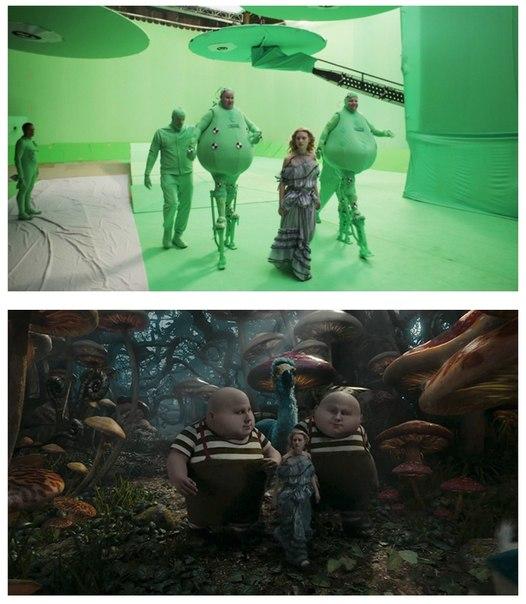 10 сцен из фильмов до и после спецэффектов