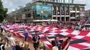 ЧМ 2018 в Калининграде on Instagram Болельщики сборной Хорватии по футболу привезли с собой огромный флаг Об этом Клопс сообщили очевидцы Ст