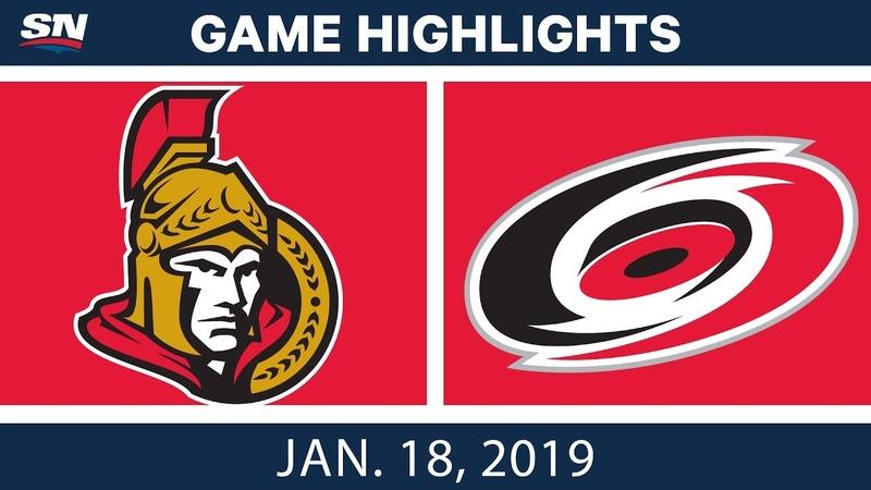 NHL Highlights   Senators vs. Hurricanes - Jan. 18, 2019