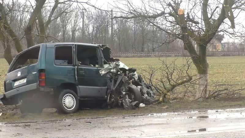 В аварии пострадали супруги