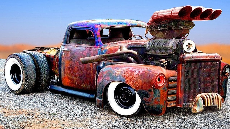 CRAZIEST and POWERFUL CARS TRUCKS (Detroit Diesel) | CUSTOM HOT RODS and RAT RODS