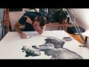 Jono Dry pencil drawing Handle