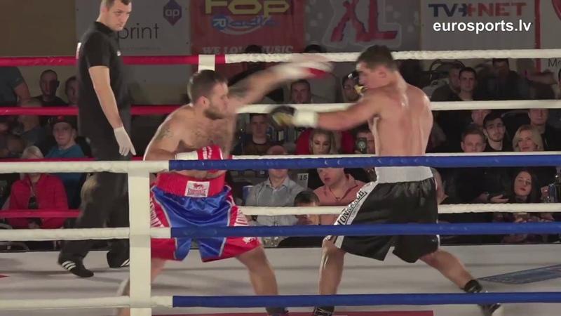 Latvian singer black shorts vs professional boxer RealBoxingShow