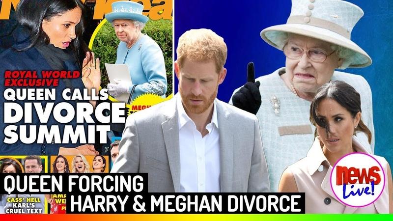 The Queen Is F-O-R-C-I-N-G Prince Harry and Meghan Markle to get D-I-V-O-R-C-E