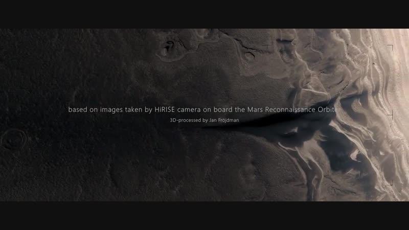 A FICTIVE FLIGHT ABOVE REAL MARS surface by Jan Fröjdman