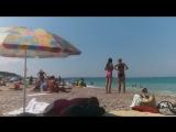 Любимовка. Полный пляж людей. Пятница 13. Июль 2018