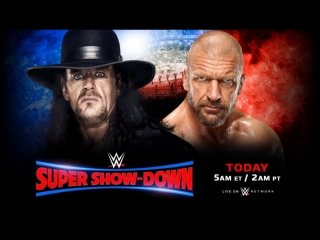 The UnderTaker vs Triple H - Super Show-Down (6.10. 2018)