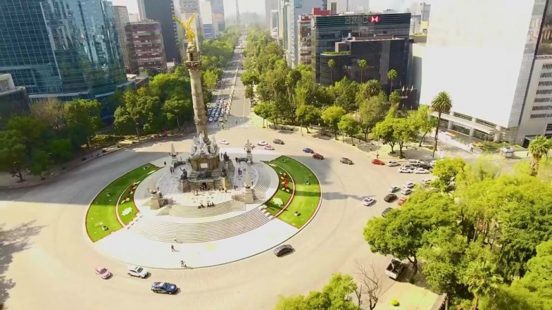 Angel of Independence Monument in Federal District Mexico City