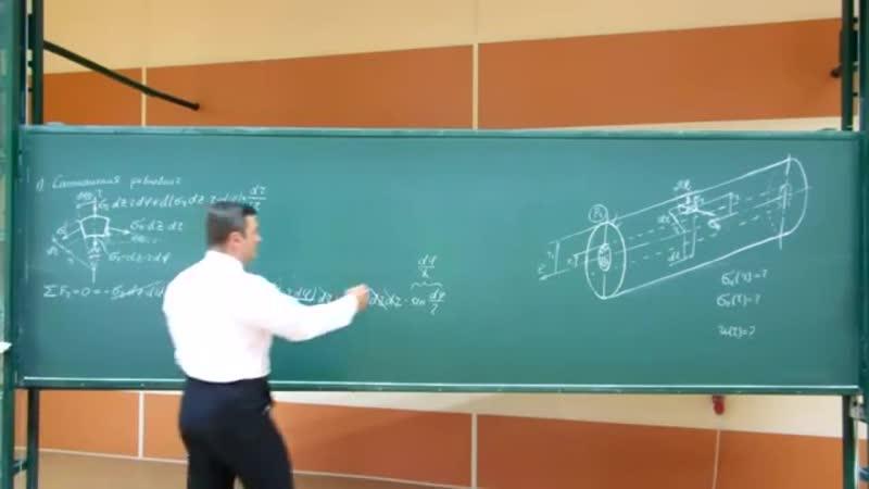 33_Сопротивление материалов. Лекция 33 (задача Лямэ, толстостенные трубы, теория)