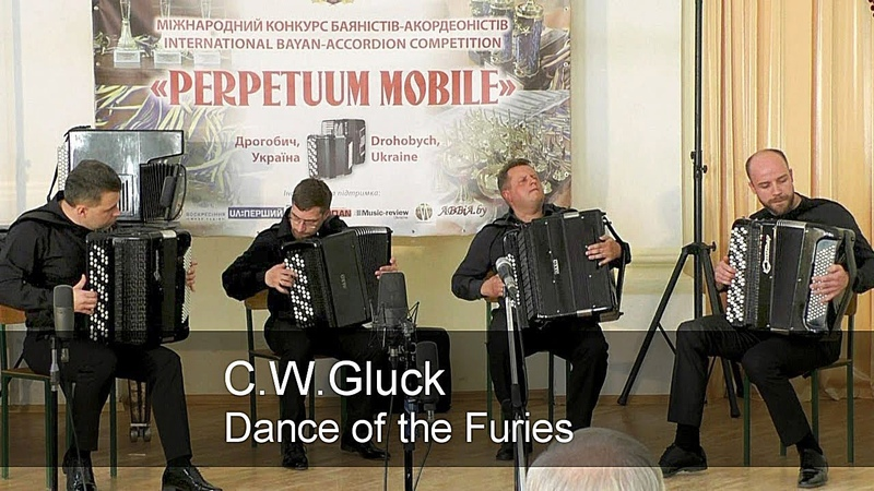 Gluck: Dance of the Furies from 'Orfeo ed Euridice' ACCORDION Quartet AKKO Project Глюк Танец фурий